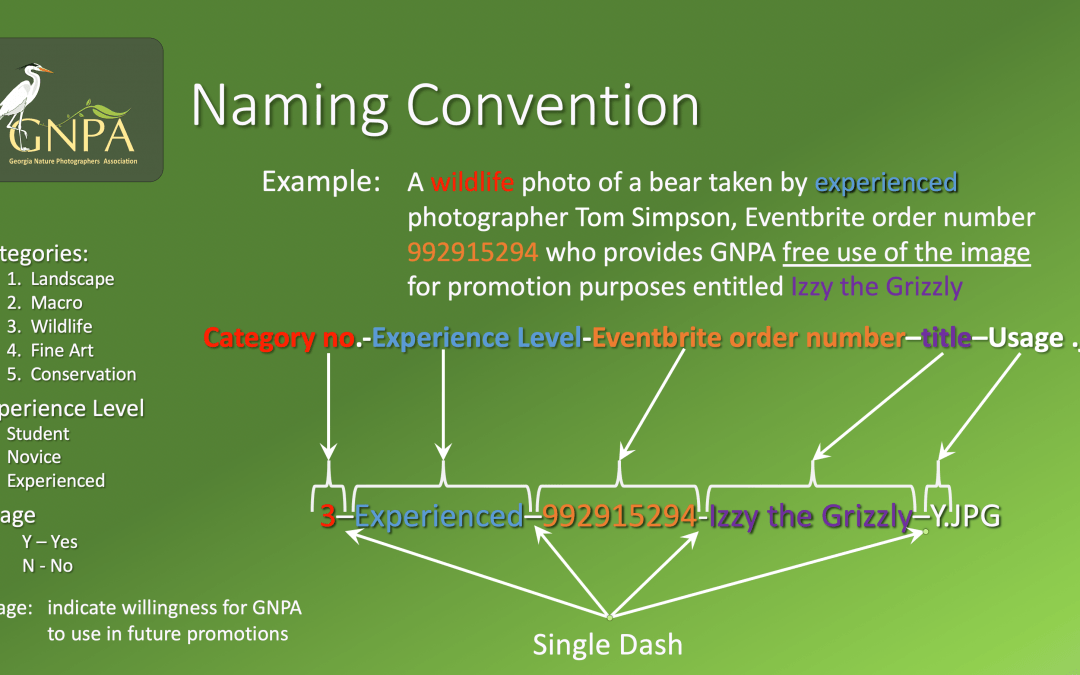 GNPA Photo Naming Guidelines